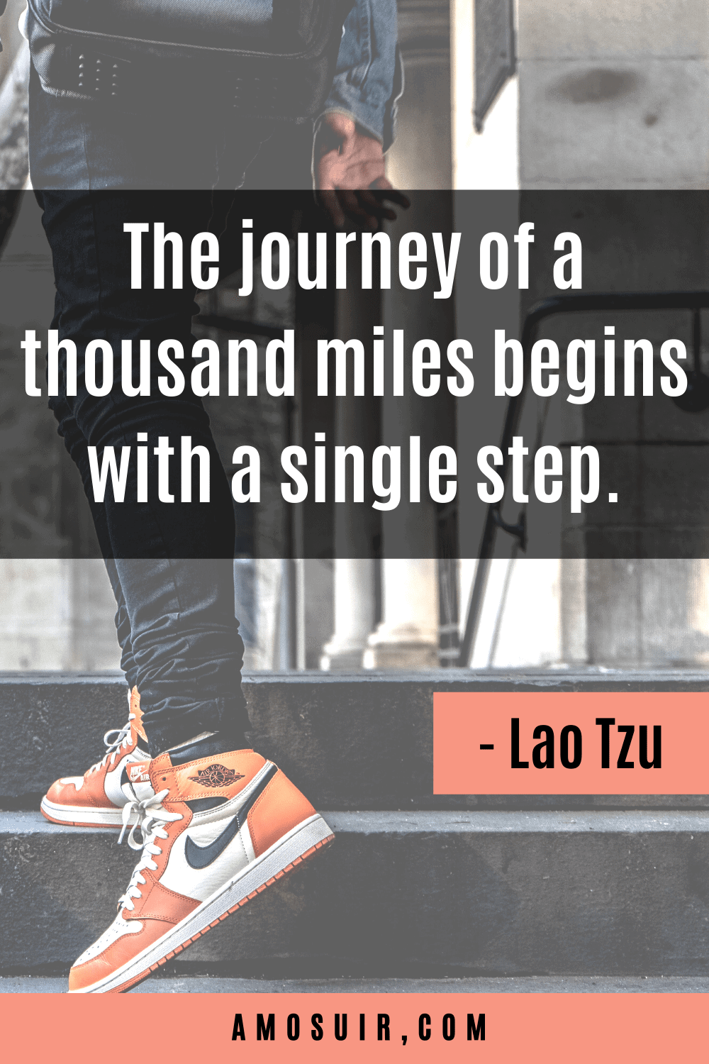 Positive quotes for anxiety sufferers -journey of a thousand miles begins with a single step