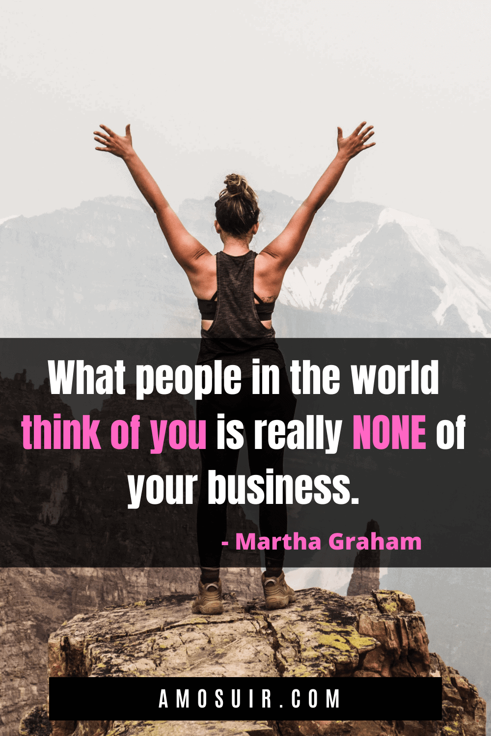 anxiety quotes - what people think of you is really none of your business
