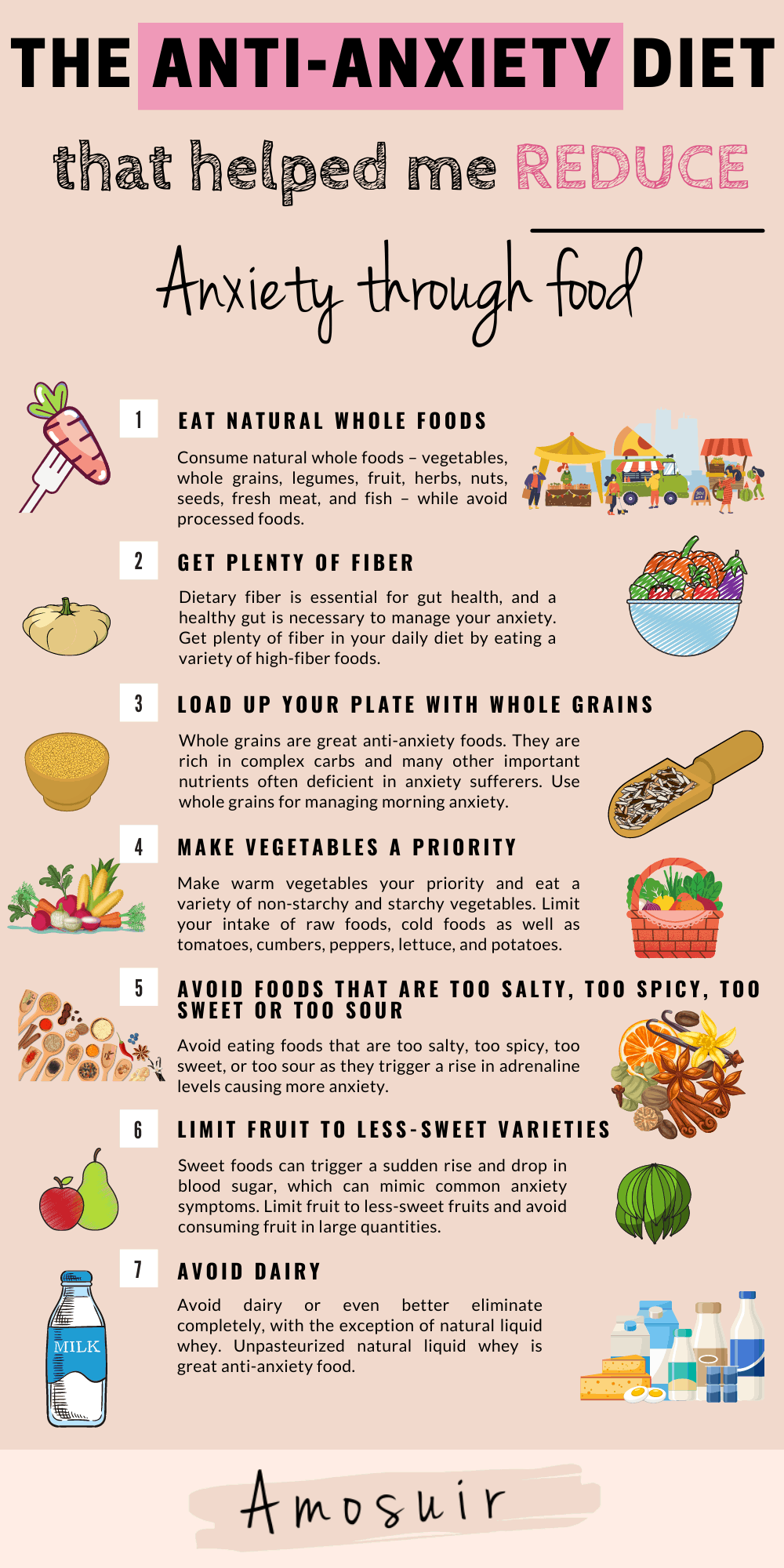 ANTI-ANXIETY DIET infographic