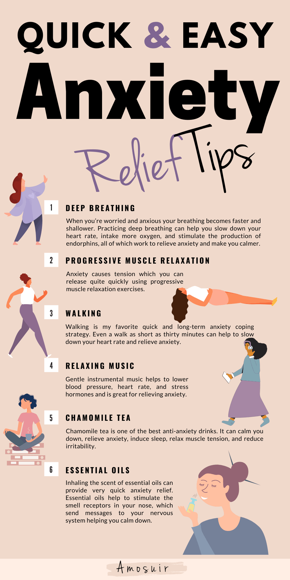 how to deal with worry and anxiety infographic 3.0