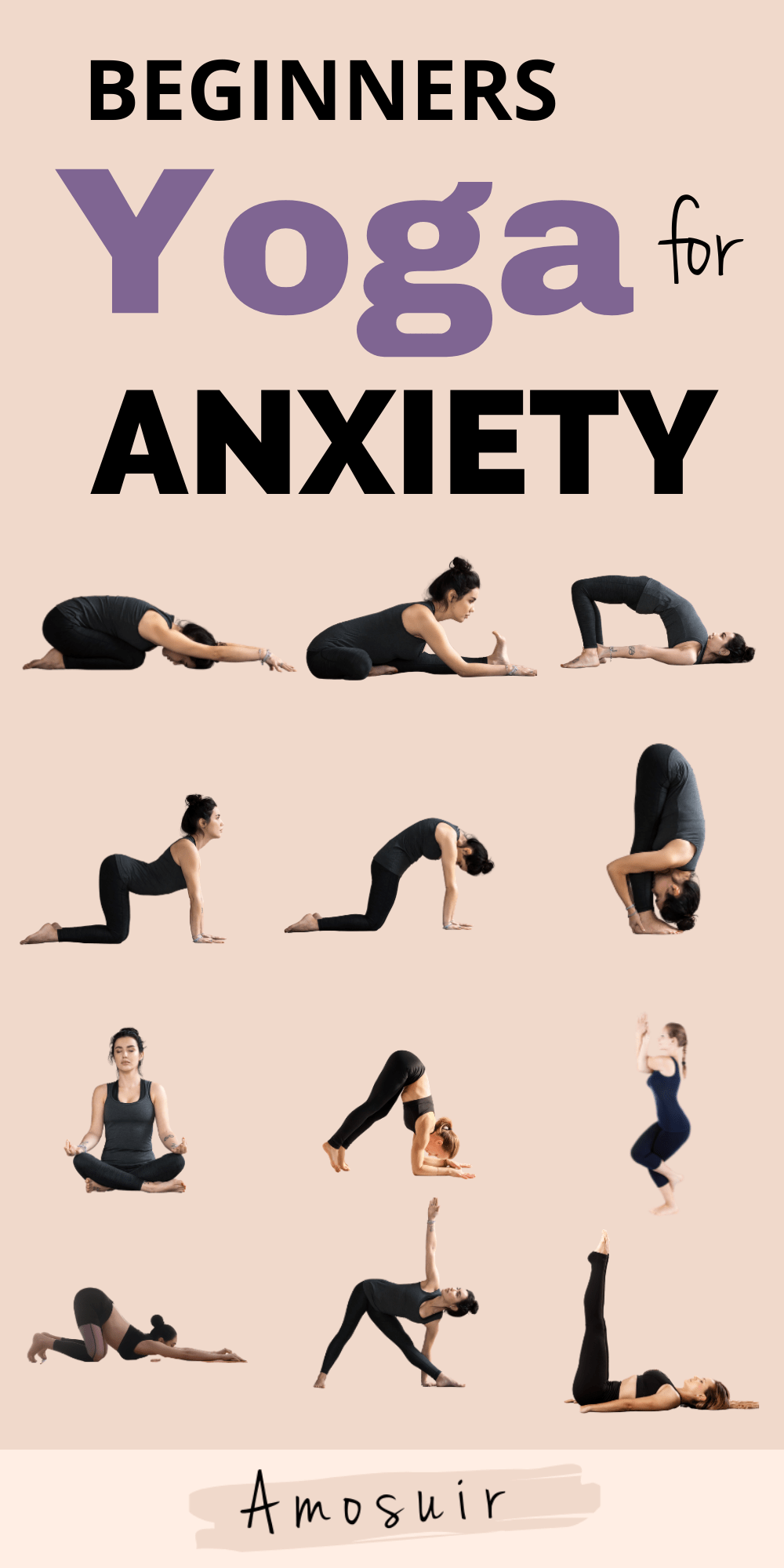 yoga for anxiety infographic